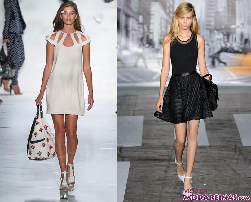 Modelos vestidos para lucir mas delgada
