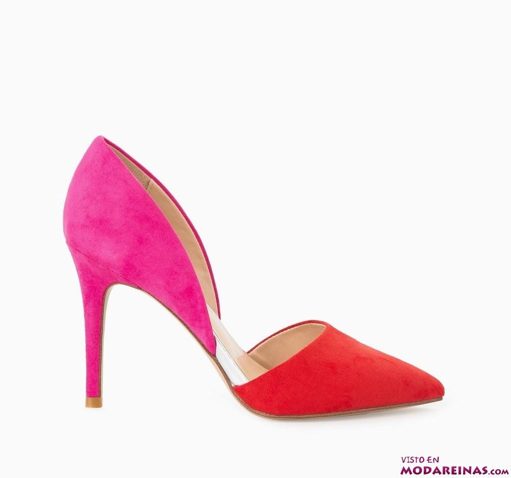 zapatos bicolor de mango