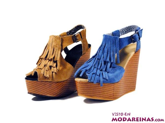 zapatos con flecos para verano