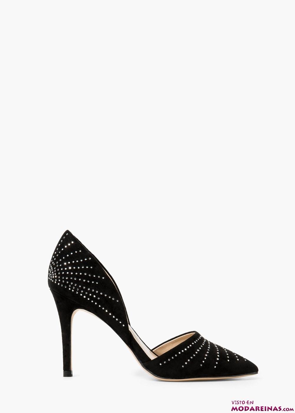 zapatos salón con brillantes